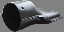 Переход с панельной трубы на трубу 110 мм