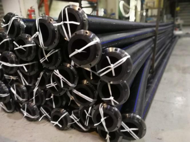 Трубы ПЭ100 офланцованные